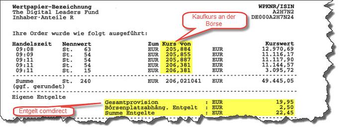 Comdirect Fondskauf 4